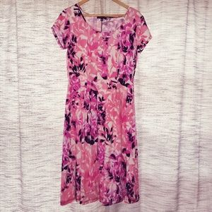 5/$25 Notations Floral Dress Pink Multi Size MP